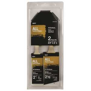 PRIVATE BRAND UNBRANDED HD A 3122 N 2.5 in. Trylon Thin Angle, 2 in. Trylon Flat Paint Brush Set