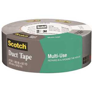 1.88 in. x 60 yds. x 7.0 mil. Contractor Grade Multi-Use Duct Tape Silver