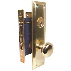 Marks 91A-US3-1/2 RH 2-1/2 in. Brass Entry Metro Mortise Lock Set