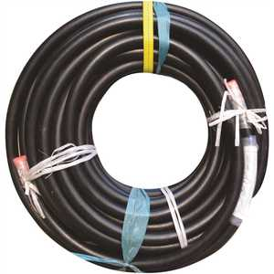 ENERCO 966001 1.25 in. x 125 ft. High Pressure Liquid Propane Gas Rubber Hose Assembly with MNPT x MNPT Smooth Cover
