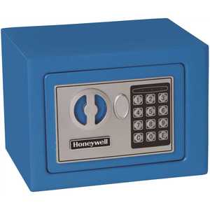 Honeywell Safety 5005B Honeywell 0.17 cu. ft. Small Steel Security Safe with Programmable Digital Lock, Blue