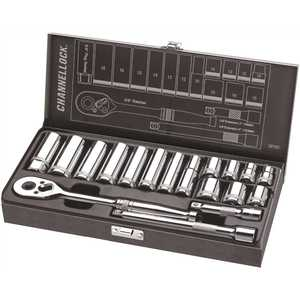 Channellock 38182 Channellock 3/8 in. Drive Metric Socket Set