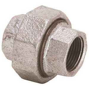 Proplus 44304 1-1/4 in. Galvanized Malleable Union Silver