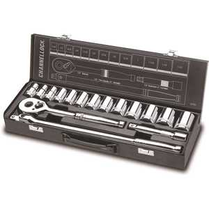 Channellock 32161 1/2 in. 6-Point SAE Socket Set