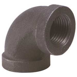 Proplus 45015 1-1/2 in. Black Malleable 90-Degree Elbow