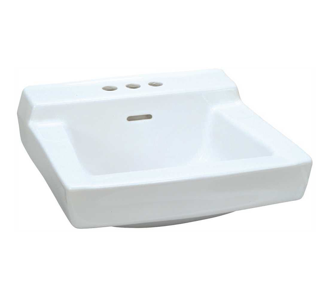Gerber 12314 19 In X 17 In Gerber Plymouth Wall Hung Bathroom Sink In White