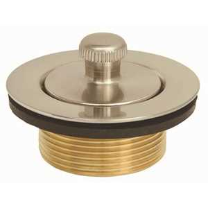 Proplus 173103 Lift- and -Turn Bathtub Drain with Bushing in Brushed Nickel Brushed Nickel Finish