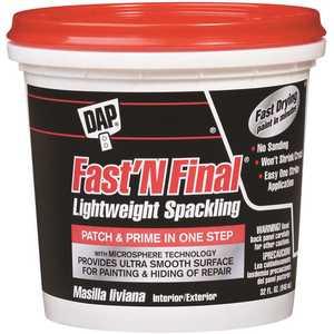 DAP 7079812142 Fast'N Final 32 oz. White Lightweight Spackling