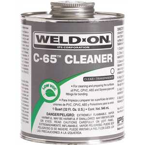 Weld-On 10201 32 oz. PVC/ABS/CPVC C-65 Cleaner in Clear