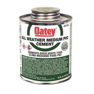 Oatey 31132 16 oz. All Weather Clear PVC Cement