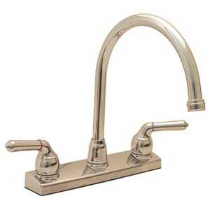 Proplus 120375 2-Handle Standard Kitchen Faucet in Chrome