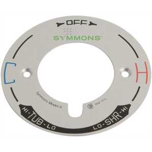 Symmons T-29A Temptrol 4 in. Dia x 0.1 in. L Escutcheon Dial Plate Model A in Chrome for Symmons Temptrol Shower Systems