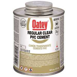 Oatey 310143 16 oz. PVC Clear Solvent Cement