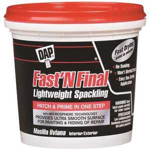 DAP 7079812141 Fast 'N Final 16 oz. Lightweight Spackling in White