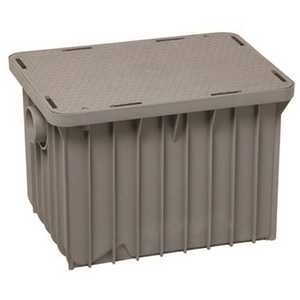 Endura 23.52 in. x 31 in. x 17.4 in. Polypropylene Above/Below Ground Grease Trap GREY