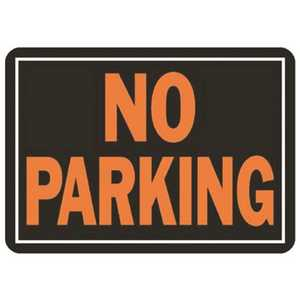HY-KO PRODUCTS 805 10 in. x 14 in. Orange On Black Aluminum No Parking Sign