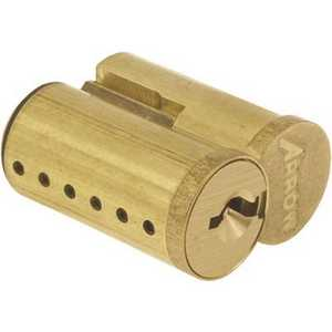 Arrow Lock 100CR-UC-AB-4 A Keyway 6-Pin Uncombinated IC Core in Dull Brass