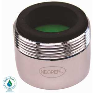 NEOPERL 5402103 Perlator 1.5 GPM 15/16 in. 27 x 55/64 in. 27 Regular Dual Thread Faucet Aerator Chrome