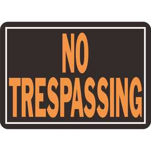 HY-KO PRODUCTS 804 10 in. x 14 in. Aluminum No Trespassing Sign