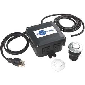 InSinkErator STS-OO Dual Outlet SinkTop Switch Kit for InSinkErator Garbage Disposals and Hot Water Dispensers Black