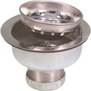Proplus 122043 Long Shank Sink Strainer, Stainless Steel