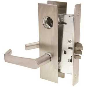 Arrow Lock BM12XH-LESS CYL. 26D Ab Series Storeroom Mortise Lock Lever Trim Dull Chrome