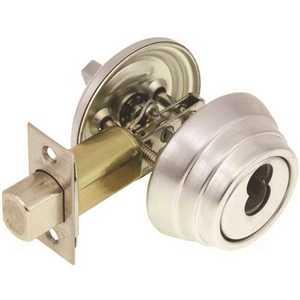 Arrow Lock E61-IC-346-144-26D E60 Single Cylinder IC Core Deadbolt 2-3/4 in. BS Dull Chrome