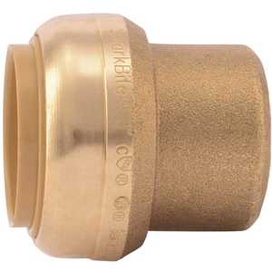 SharkBite U520LF 1 in. Brass Push-to-Connect End Stop Fitting