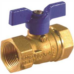 JOMAR INTERNATIONAL 102-403 1/2 in. Flare x 1/2 in. Flare Valve Bluecap Ii Gas Ball Valve with Side Tap