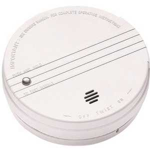 Kidde 0915E Battery Operated Smoke Detector with LED Power Indicator and Ionization Sensor