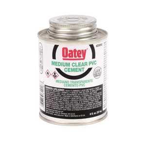Oatey 31018 PVC MEDIUM CEMENT, CLEAR, 8 OZ