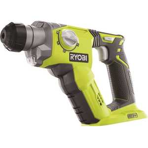 RYOBI P222 18-Volt ONE+ Lithium-Ion Cordless 1/2 in. SDS-Plus Rotary Hammer Drill (Tool Only) Green