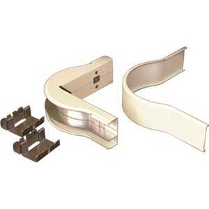 Legrand V2418DFO 5 in. Dual-Channel Steel Divided Radiused External Elbow Fitting, Ivory
