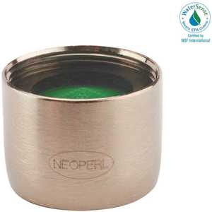 NEOPERL 5401905 Perlator 1.5 GPM 55/64 in. - 27 Regular Female Faucet Aerator, Brushed Nickel green/brushed nickel