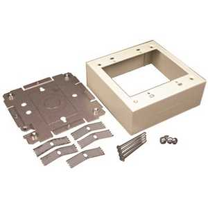 Legrand V2448-2 2-Gang Dual-Channel Steel Device Box Fitting, Ivory