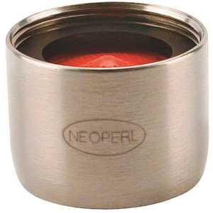 NEOPERL 5403605 Perlator 2.2 GPM 55/64 in. - 27 Regular Female Faucet Aerator, Brushed Nickel Red/brushed nickel