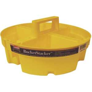 Bucket Boss 15051 12 in. 4-Compartment Stacker Small Parts Organizer