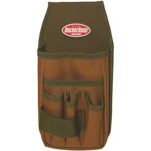 Bucket Boss 54170 5 in. 5-Pocket Utility Pouch with Flap Fit