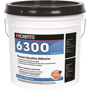Roberts R6300-4 4 Gal. Pressure Sensitive Adhesive for Carpet Tile and Luxury Vinyl Tile