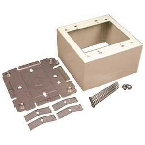 Legrand V2444-2 2-Gang Dual-Channel Steel Extra Deep Device Box Fitting, Ivory
