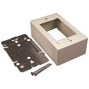 Legrand V2448 1-Gang Dual-Channel Steel Device Box Fitting, Ivory