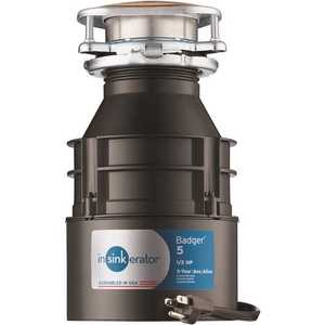 InSinkErator BADGER 5 W/C Badger 5 1/2 HP Continuous Feed Garbage Disposal with Power Cord