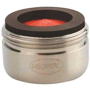 NEOPERL 5403305 Perlator 2.2 GPM 15/16 in. - 27 Regular Male Faucet Aerator, Brushed Nickel red/brushed nickel