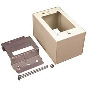 Legrand V2444D 1-Gang Dual-Channel Steel Device Box Fitting, Ivory