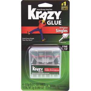 Elmer's EPIKG58248SN Krazy Glue Single-Use Tubes with Storage Case