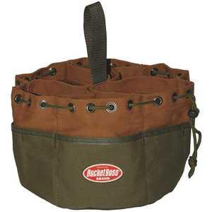 Bucket Boss 25001 10 in. Parachute Parts Tool Bag in Brown