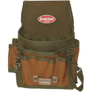 Bucket Boss 54140 6.5 in. 5-Pocket Tool Pouch with Flap Fit