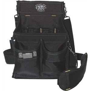 Dead On Tools HDP222496 11 in. 14-Pocket Electricians Professional Pouch in Black