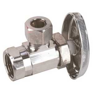 Durapro LA 1CP LF Angle Stop 1/2 in. IPS x 3/8 in. Comp Chrome Lead-Free Chrome Plated