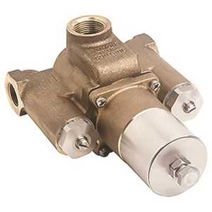 Symmons 7-400 3/4 in. x 1 in. Tempcontrol Thermostatic Mixing Valve, Rough Brass